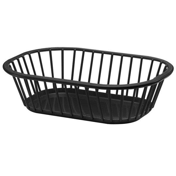 Tablecraft 1088BK 10 inch x 7 inch x 3 inch Black Spoke Plastic Fast Food Basket  - 12/Pack