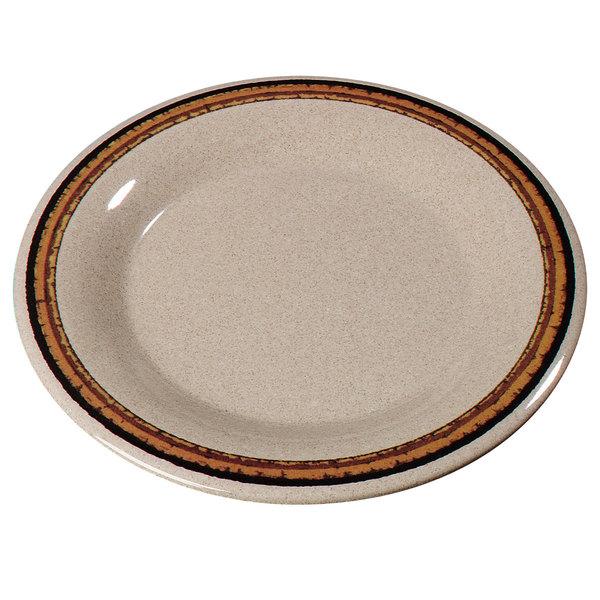 Carlisle 43019908 Mosaic Durus 6 1/2  Sierra Sand on Sand Wide Rim Melamine Pie Plate ...  sc 1 st  WebstaurantStore & Carlisle 43019908 Mosaic Durus 6 1/2