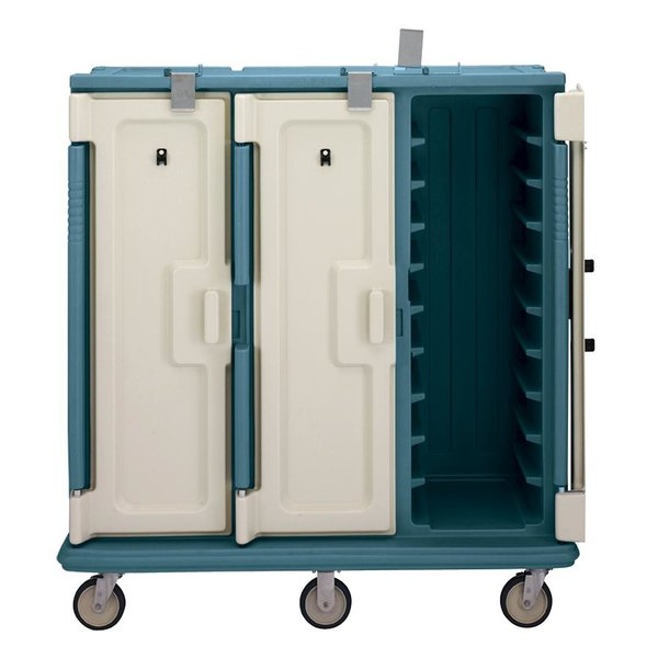 Cambro MDC1418T30192 Granite Green 3 Compartment Meal Delivery Cart 30 Tray