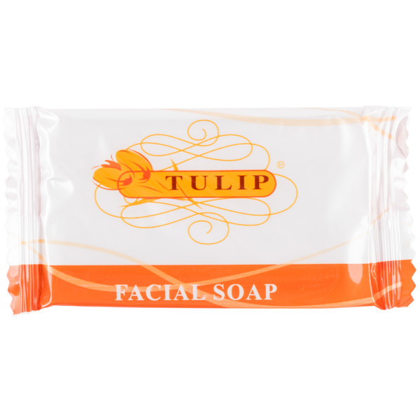 Tulip .5 oz. Hotel and Motel Wrapped Facial Soap Bar - 1000/Case