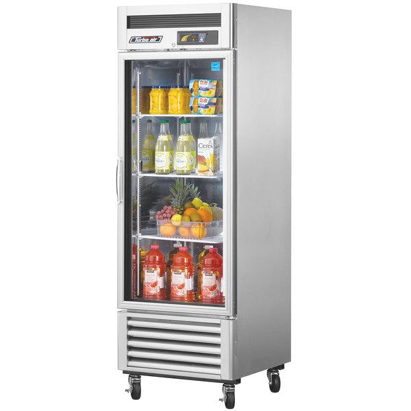 "Turbo Air MSR-23G-1 Super Deluxe 27"" Glass Door Reach In Refrigerator"