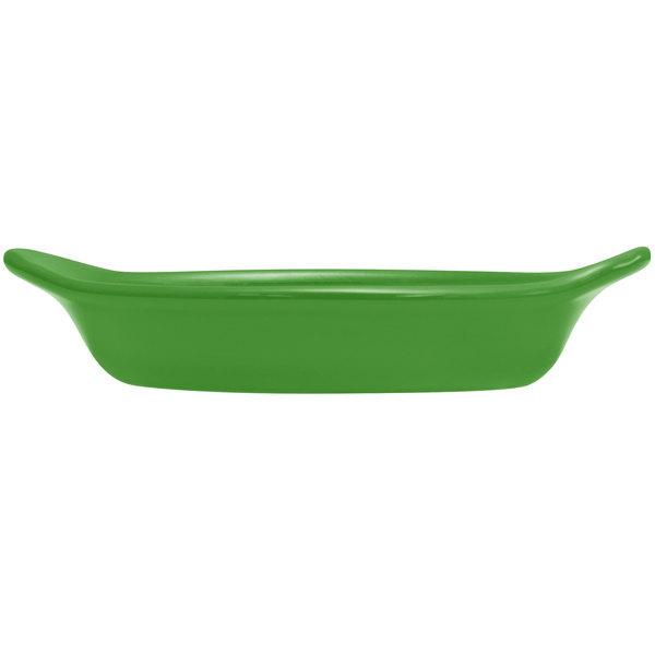 Hall China 30527324 Shamrock 8 oz. Colorations Oval Rarebit / Au Gratin Dish - 24/Case