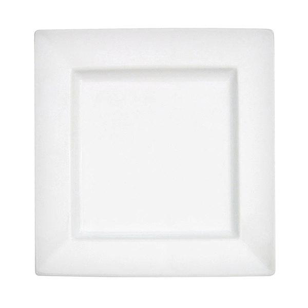 CAC PNS-3 Princesquare 12 oz. Bright White Porcelain Soup Plate - 24/Case