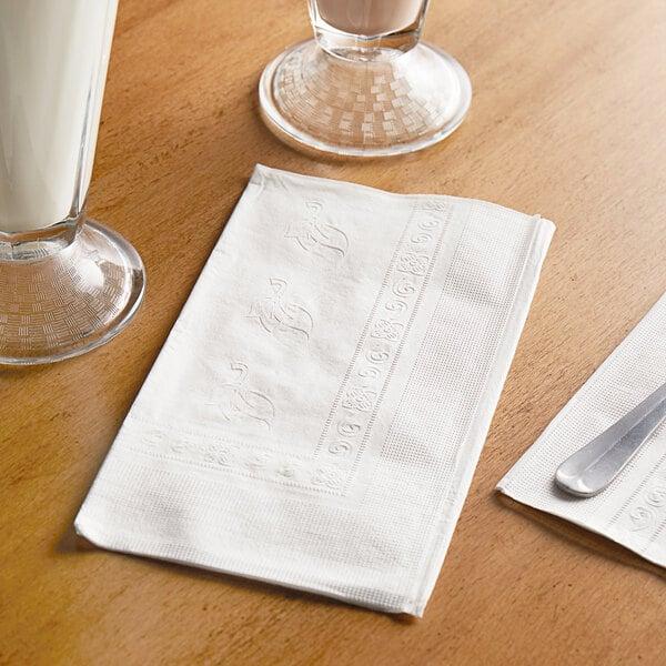 "Choice 15"" x 17"" White 2-Ply Dinner Napkin - 3000/Case Main Image 3"