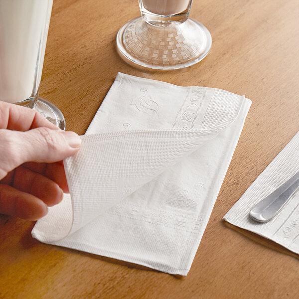 Choice 15 X 17 White 2 Ply Dinner Napkin 3000 Case