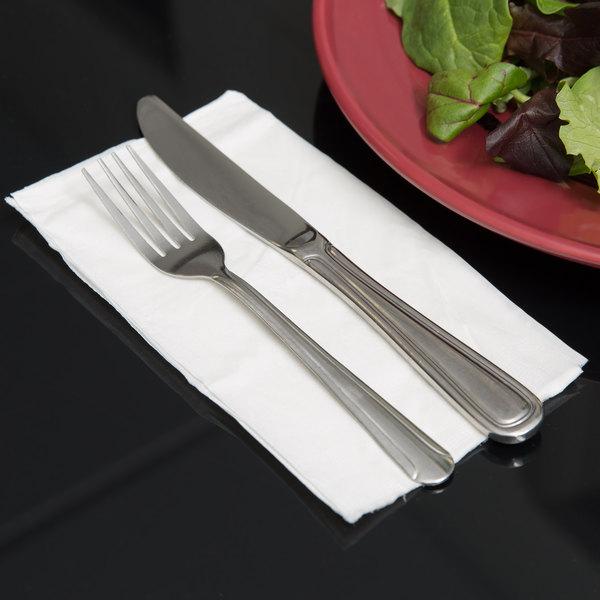 """15"""" x 17"""" 2-Ply White Dinner Napkin - 3000/Case"""