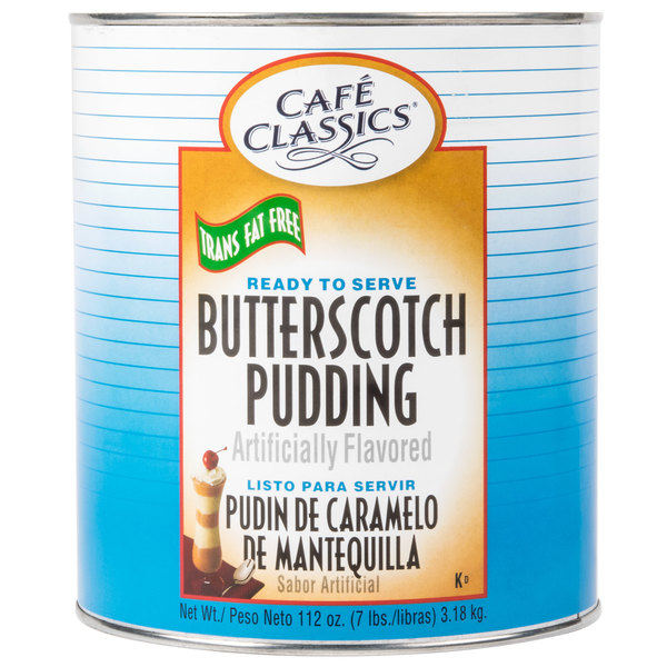 Cafe Classics Trans Fat Free Butterscotch Pudding #10 Can - 6/Case