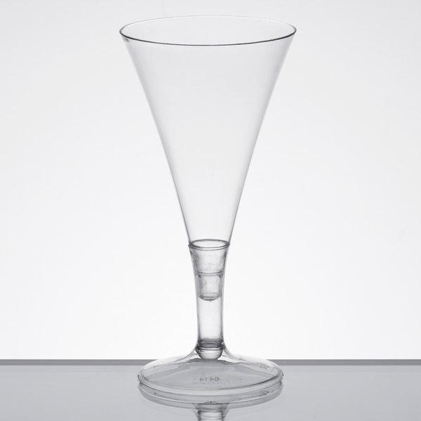 CLEAR 15 x CLEAR PLASTIC CHAMPAGNE FLUTES WINE MARTINI GLASSES CUPS