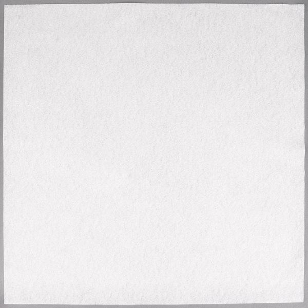 Hoffmaster 125028 Flat Pack 16 inch x 16 inch White Linen-Like Napkin  - 500/Case