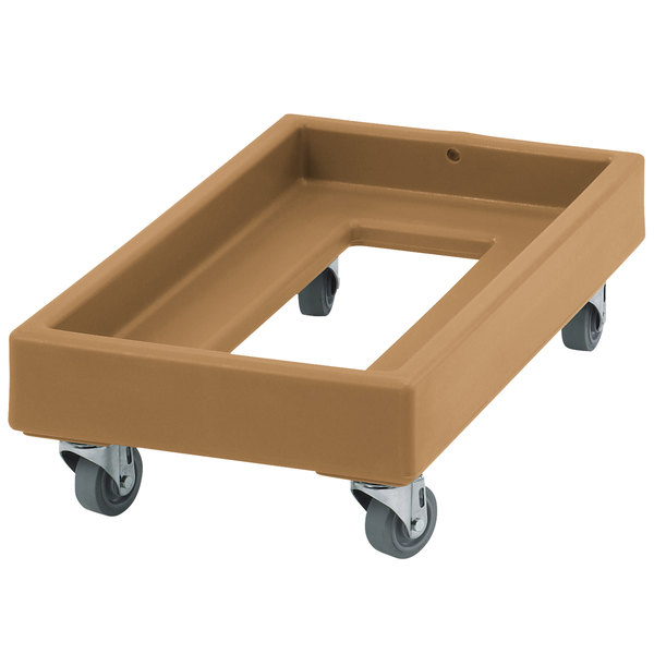 Cambro CD1327157 300 lb. Coffee Beige Camdolly Milk Crate Dolly Main Image 1