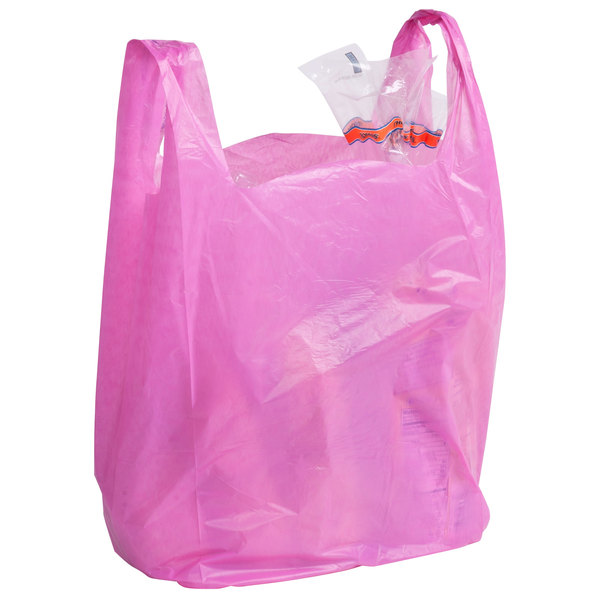 1/6 Size Magenta T-Shirt Bag - 1000/Case Main Image 4