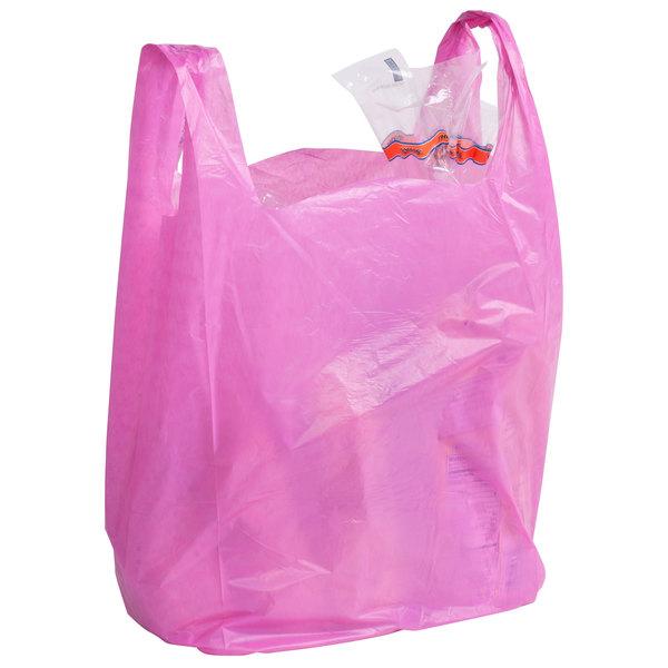 1/6 Size Magenta T-Shirt Bag - 1000/Case