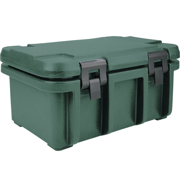 "Cambro UPC180192 Granite Green Camcarrier Ultra Pan Carrier - Top Load for 12"" x 20"" Food Pan"
