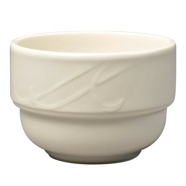 Homer Laughlin 6011000 Lyrica 7.5 oz. Ivory (American White) China Bouillon Cup - 36/Case