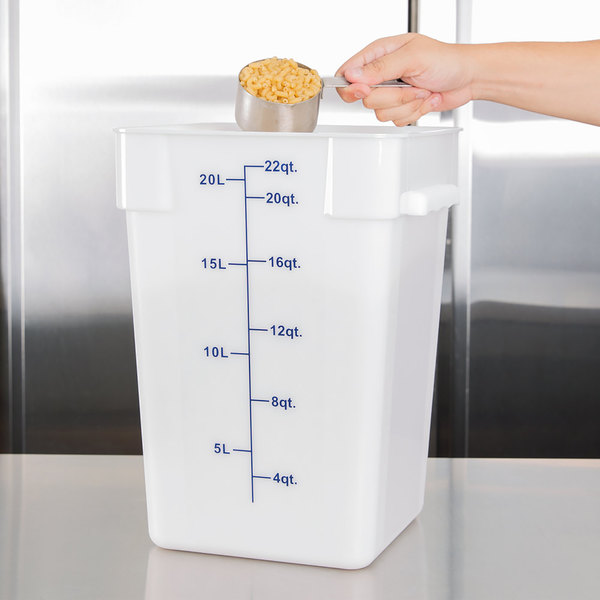 22 Qt. White Square Food Storage Container