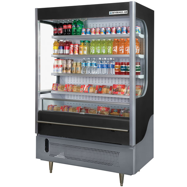 """Beverage-Air VM18-1-B VueMax 51"""" Black Air Curtain Merchandiser"""