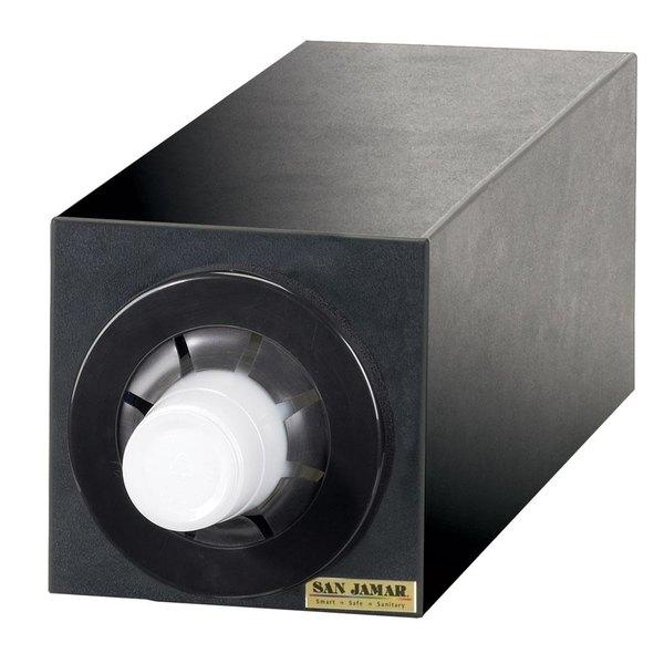 San Jamar C2951BK Sentry Countertop Cup Dispenser Black - Vertical Cabinet with 1 Tube