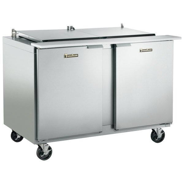 """Traulsen UST4812-LR 48"""" 1 Left Hinged 1 Right Hinged Door Refrigerated Sandwich Prep Table"""