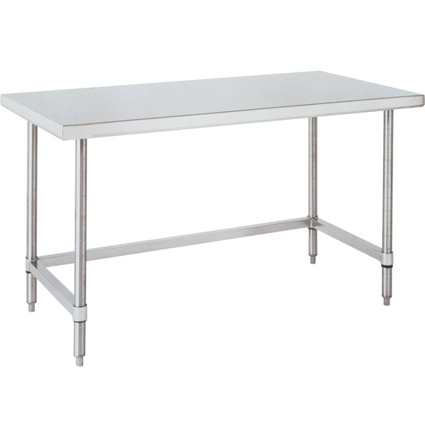 "14 Gauge Metro WT309US 30"" x 96"" HD Super Open Base Stainless Steel Work Table"