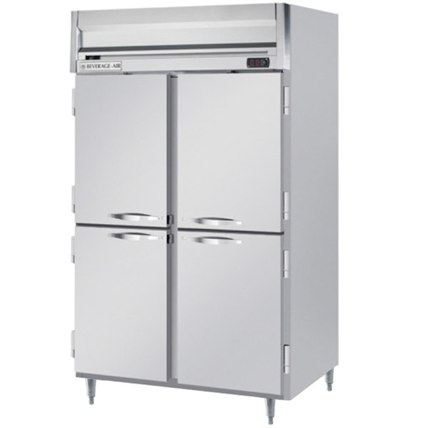 "Beverage-Air HRPS2-1HS Horizon Series 52"" Solid Half Door All Stainless Steel Reach-In Refrigerator"