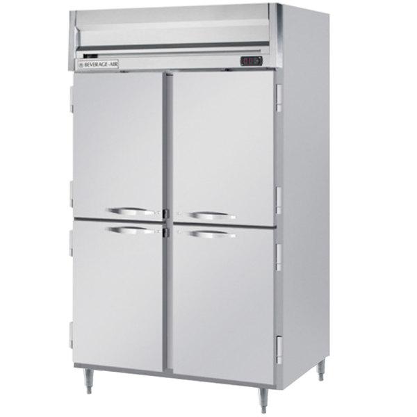 """Beverage-Air HRPS2-1HS Horizon Series 52"""" Solid Half Door All Stainless Steel Reach-In Refrigerator"""