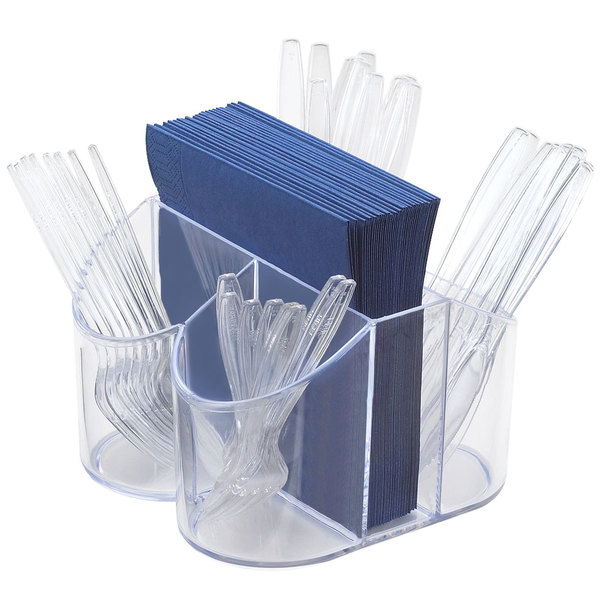 "Cal-Mil 910 Classic Flatware / Napkin Display - 8"" x 8"" x 5"""