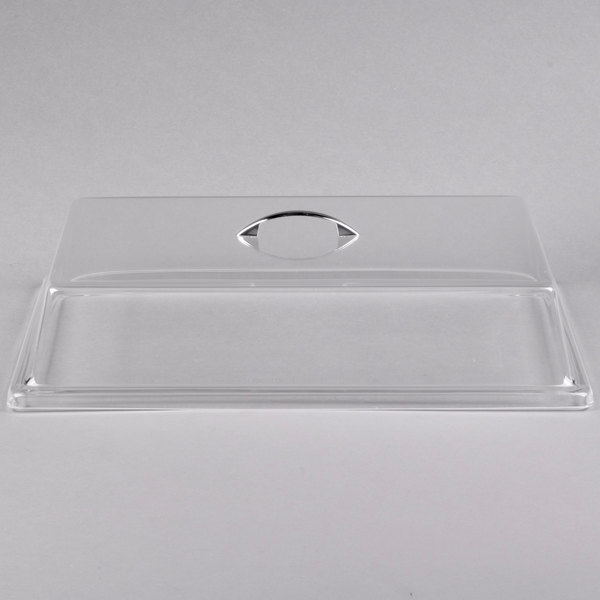 """Cal-Mil 327-9 Clear Standard Rectangular Bakery Tray Cover - 9"""" x 26"""" x 4"""""""