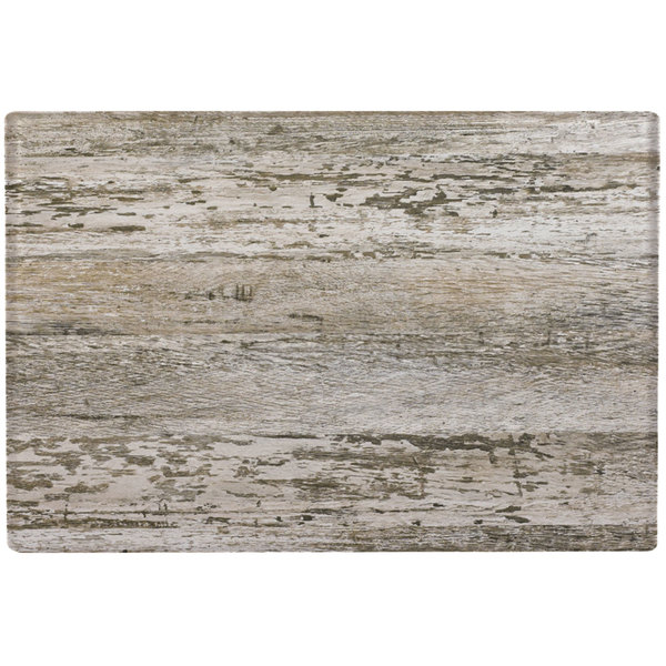 """Grosfillex 99851546 X1 32"""" x 48"""" Barn White Outdoor Molded Melamine Table Top"""