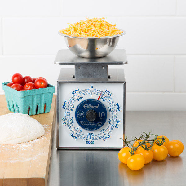 "Edlund MSR-10000 10,000 Gram Stainless Steel Metric Portion Scale with 6"" x 6 3/4"" Platform"