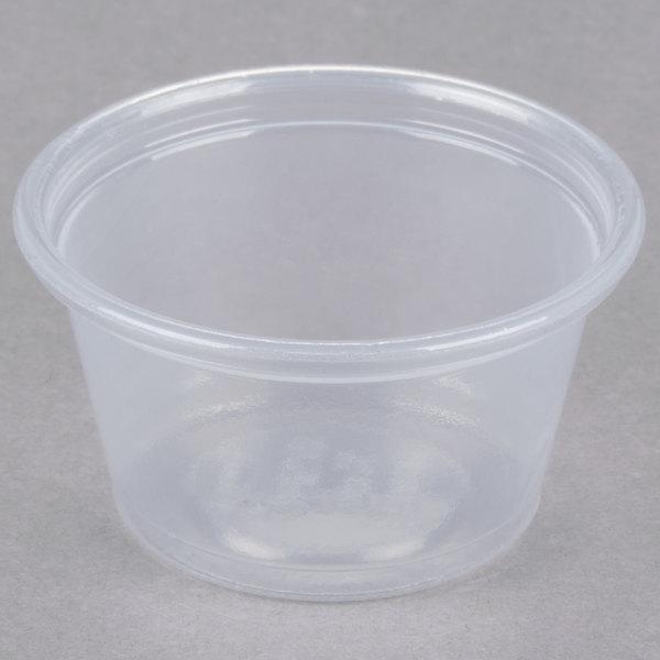 Dart Conex Complements 075PC 0.75 oz. Translucent Plastic Souffle / Portion Cup - 2500/Case