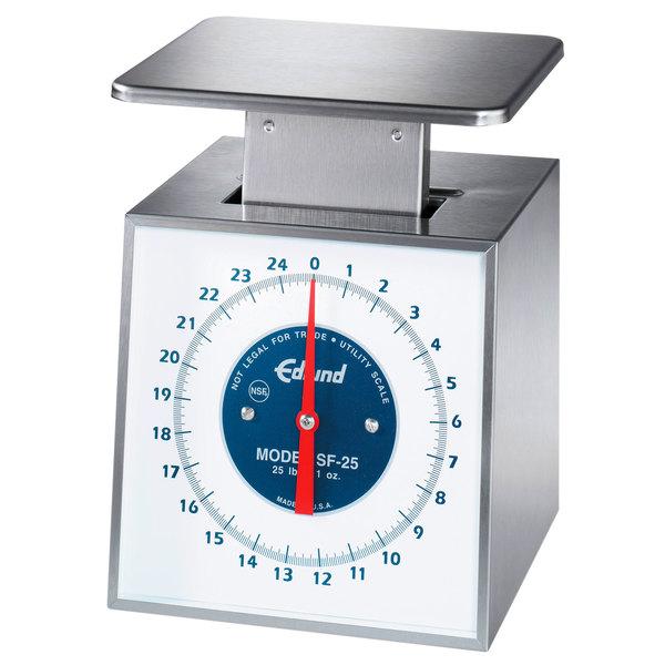 "Edlund SF-5 Premier Series 5 lb. Portion Scale with 6"" x 6 3/4"" Platform"