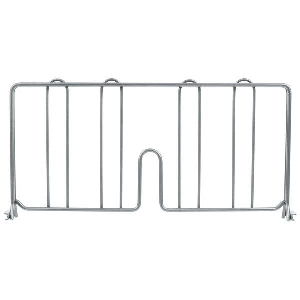 """Metro DD18-DSH 18"""" Silver Hammertone Wire Shelf Divider"""