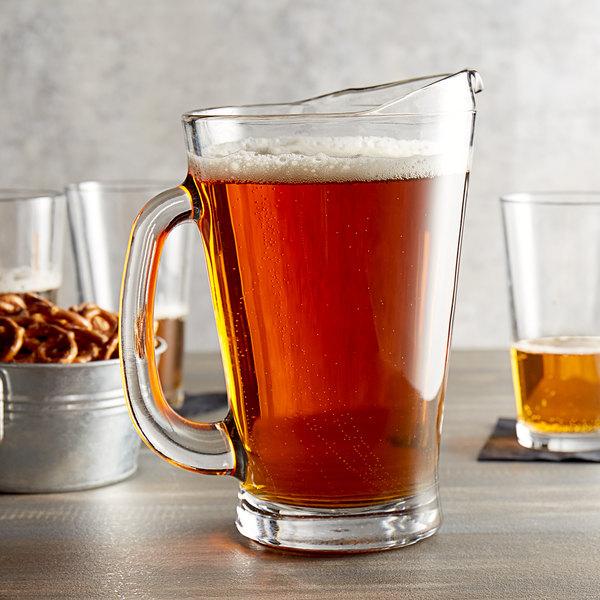 Anchor Hocking 1155UR 55 oz. Glass Beer Wagon Pitcher - 6/Case Main Image 2