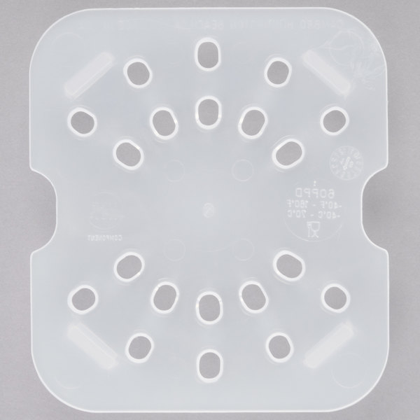 Cambro 60PPD190 1/6 Size Translucent Polypropylene Drain Tray Main Image 1