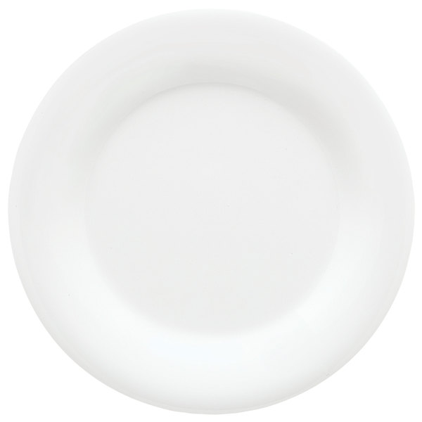 "GET WP-7-DW Diamond White 7 1/2"" Wide Rim Plate - 48/Case Main Image 1"