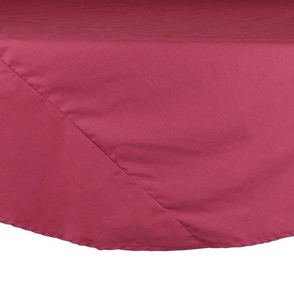 "132"" Mauve Round Hemmed Polyspun Cloth Table Cover"