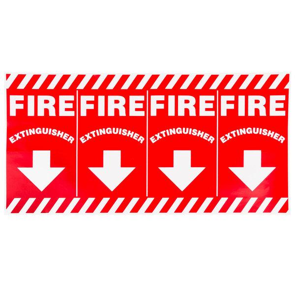 "Buckeye Wrap-Around Fire Extinguisher Adhesive Label - Red and White, 24 1/2"" x 12"""