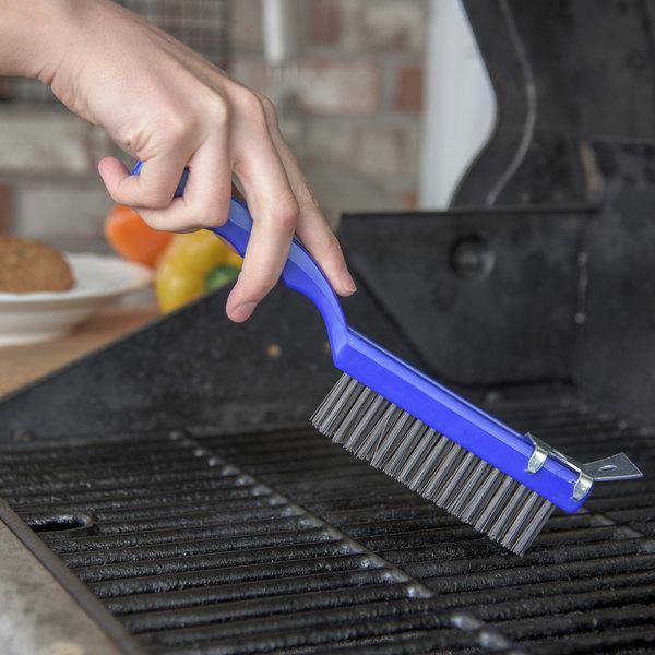 Carlisle 4067100 Sparta Wire Grill Brush with Scraper Plastic Handle