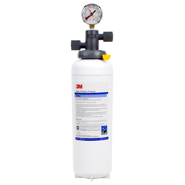 3M Water Filtration Products BEV160 Single Cartridge Cold Beverage Water Filtration System - .2 Micron Rating and 3.34 GPM Main Image 1