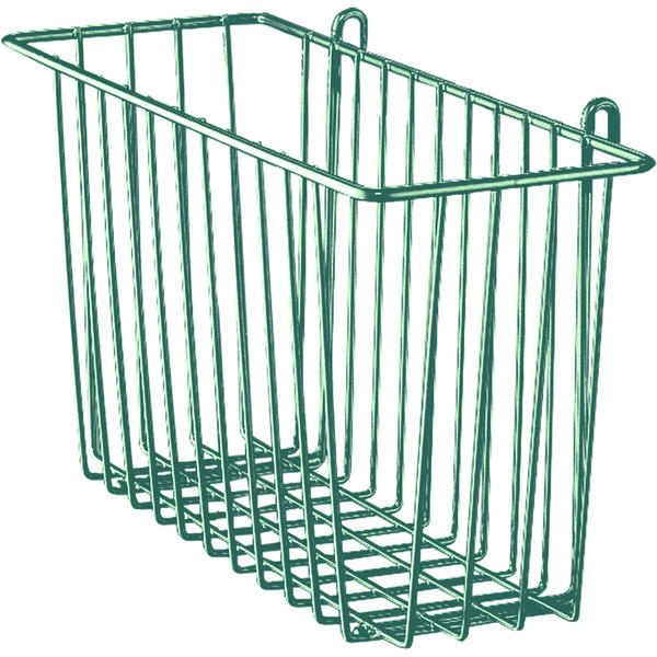 """Metro H210-DHG Hunter Green Storage Basket for Wire Shelving 17 3/8"""" x 7 1/2"""" x 5"""""""