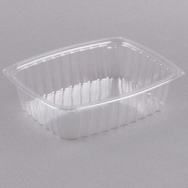 Dart C48DER ClearPac 1.5 Qt. Clear Rectangular Plastic Container - 252/Case Main Image 1
