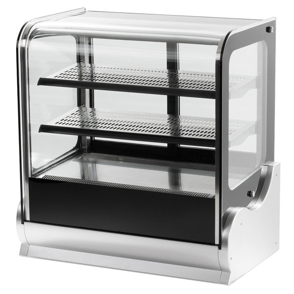 """Vollrath 40867 60"""" Cubed Glass Heated Countertop Display Cabinet Main Image 1"""