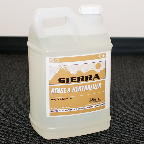 Sierra by Noble Chemical 2.5 gallon / 320 oz. Carpet Rinse & Odor Neutralizer - 2/Case