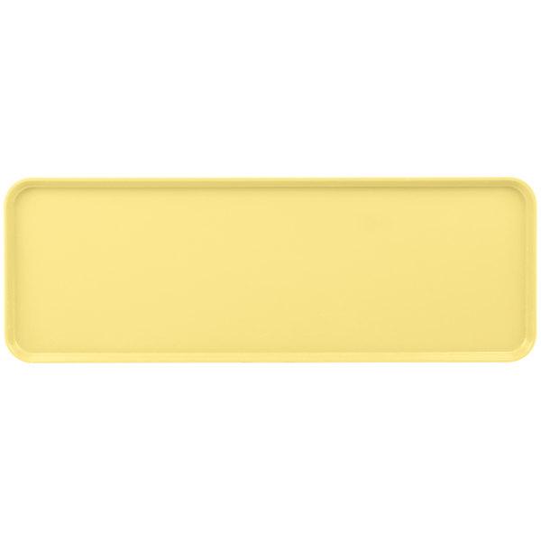 "Cambro 1030MT145 10"" x 30"" Yellow Fiberglass Market Tray - 12/Case"