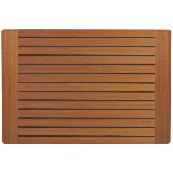 "Grosfillex 99851508 X1 32"" x 48"" Teak Decor Outdoor Molded Melamine Table Top"