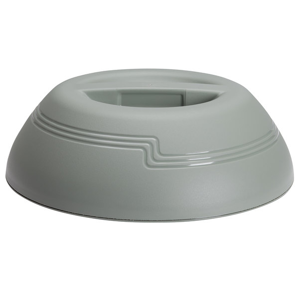 """Cambro MDSD9447 Meadow Green Insulated Dome Cover for 9"""" Plates - 12/Case"""
