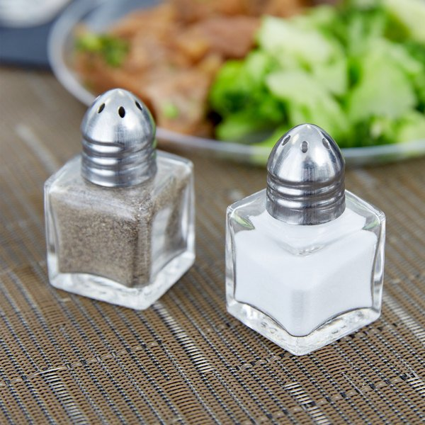 salt and pepper shakers. Mini Salt And Pepper Shaker - 24/Case Shakers