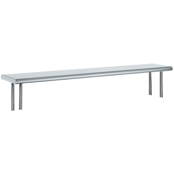 """Advance Tabco OTS-12-84 12"""" x 84"""" Table Mounted Single Deck Stainless Steel Shelving Unit"""