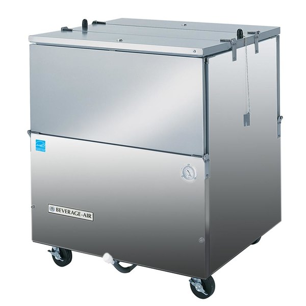 """Beverage-Air ST34N-S 34"""" Stainless Steel 2-Sided Cold Wall Milk Cooler"""