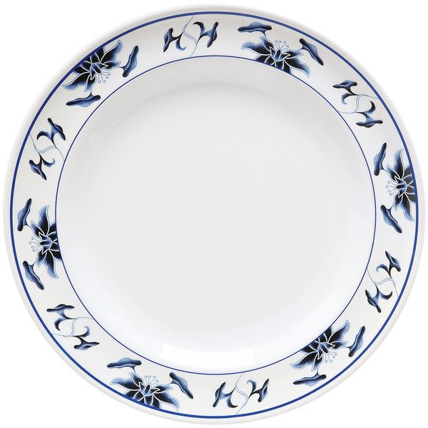 """GET M-418-B Water Lily 16"""" Melamine Plate - 12/Pack"""
